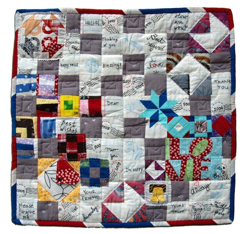 "59. ""It's Literally a Postage Stamp Quilt"" Esther Muh Albany, California"