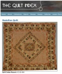 A. Medallion Quilt. c.1830. Quilts of Tennessee