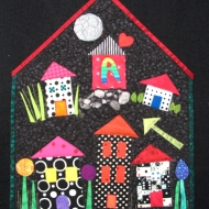 """""""A is for..."""" (Alliance in Asheville)"""", 2006, for the """"Put a Roof Over Our Head"""" contest."""